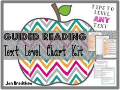Guided Reading Text Level Chart, Correlation, How to Level