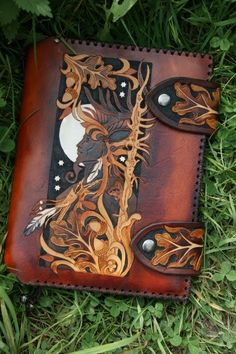 Horned God Leather Journal bySkyRavenWolf (facebook&Shop) Don't Remove The Credit & Source
