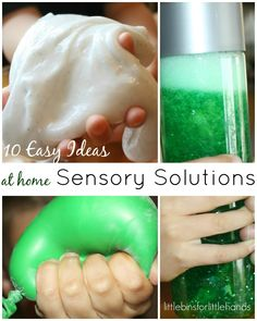 Easy sensory solutions at home for kids! Quick and easy sensory solutions you can make right away that won't break the bank!