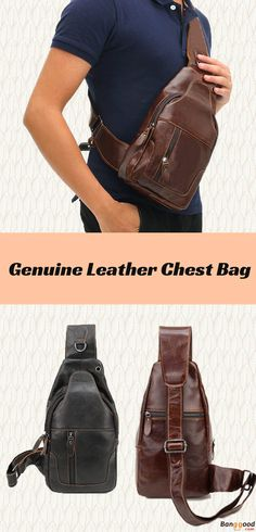 US$36.78 + Free shipping. Men Chest Bag, Crossbody Bag, Vintage Style, Genuine Leather Bag, Chest Bag, Crossbody Bag. Material: Genuine Leather. Color: Brown, Black.