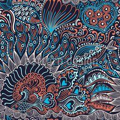 je veux un tissus imprimé comme ca aussi fisch nahtlose muster, endlosen abstrakten doodle muster — Vektorgrafik Wallpaper Doodle, Pattern Wallpaper, Zen Doodle, Doodle Art, Pretty Drawings, Seamless Textures, Doodle Patterns, Sketchbook Inspiration, Vector Pattern