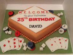 Las Vegas themed cake ... All edible!