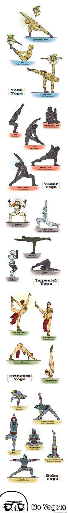 Star-Wars and Yoga combine... How interesting. XD