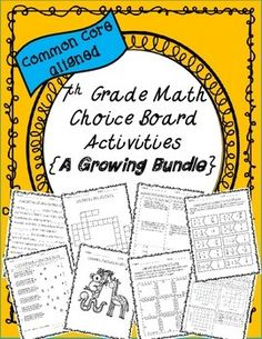 Give students a choice on how they show mastery of a skill with 7th Grade Math Choice Board Activities {Growing Bundle}.Choice boards offer a variety of options to meet the needs of all students with different learning styles. These activities are great for engagement, work wonders as math center/station rotations, and come with multiple levels of work.