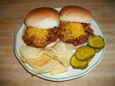 This recipe is from my 1970 and 1976 Campbell Soup Cookbook (Cooking with Soup). The added ingredient that makes these sloppy joes taste good, is the chili powder (providing you add 1-1/2 teaspoons). I like mine topped with a bit of shredded sharp cheddar cheese.