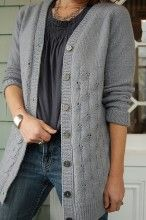 Moonshine Cardigan Lace Top Down Knitting Pattern | One-Piece dk