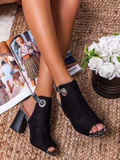 Dámske štýlové čierne sandále s hadím vzorom G1781C Peeps, Peep Toe, Shoes, Fashion, Moda, Zapatos, Shoes Outlet, Fashion Styles, Shoe
