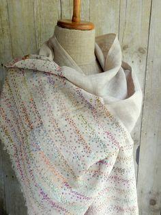 """The Rain"" linen scarf"