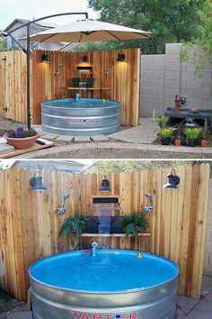 Stock Tank Pool Ideas In Backyard 50