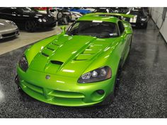 2009 Dodge Viper 2dr Cpe SRT1 Snakeskin Green Click to find out more - http://newmusclecars.org/2009-dodge-viper-2dr-cpe-srt1-snakeskin-green/