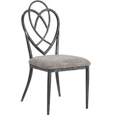 Stylish and charming, this set of Lexis metal side chairs is the perfect addition to your kitchen or dining area. Featuring a brushed pewter finish and metal design back, this side chair invites style into your home.
