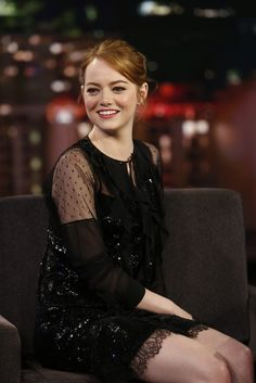 Emma Stone - At Jimmy Kimmel Live in Hollywood - 2/6/17