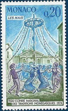 It's May Day! Join World Stamp Show-NY 2016 as we dance around the May Pole! Tra la la!