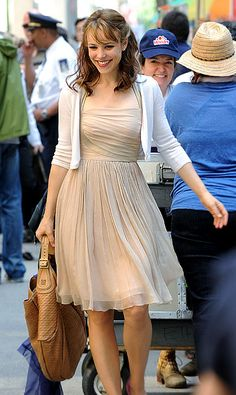 Rachel McAdams. I really want that dress....I need to find a replica here in Bakersfield soon lol