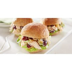 Chicken Salad Sliders ❤ liked on Polyvore featuring home and kitchen & dining