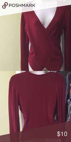 Slimming Shape Fx Wrap Top Stretchy top, pull on over head. Very slimming Shape Fx Tops