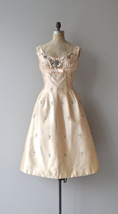 Luminous Star dress vintage 1950s dress champagne by DearGolden