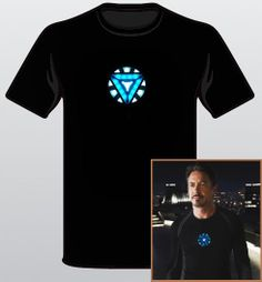 The Avengers T-Shirt Tony Stark Arc Reactor Iron Man Loki Thor Hulk Tee Sizes: S-XXL on Etsy, $14.99