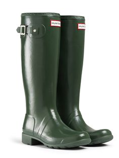 $135  Green - Original Packable Tour | Hunter Boot Ltd ---- Oh global warming couldn't you please slow down.  I need a few more weeks of winter so I can buy these!