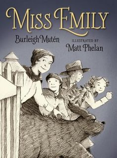 MISS EMILY by Burleigh Mutén, illustrated by Matt Phelan. In this wonderful verse novel, reclusive Emily Dickinson's well known friendship with her nieces and nephews and the neighbor kids is imagined into a late night adventure disguised as a troupe of gypsies out to see the circus train pulling into town. Phelan's illustrations are pitch perfect as always.