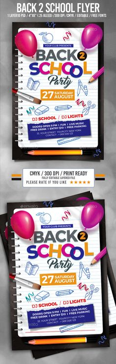 Back To School Flyer | Back To, Back To School And Schools