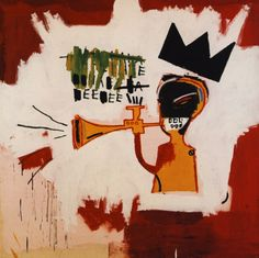 "Jean-Michel Basquiat (1960-1988) - (black) Art &(black) Music From basquiatbiography.com: Basquiat was, of course, a great jazz fan. Charlie Parker is the Jazz character most often referred to as Basquiat's ""hero."" But in a 1983 interview in Milan, Lisa Licitra asked Basquiat his favorite music, and he replied ""Miles Davis."""