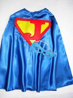 Children's Custom Superhero Personalized Kids Cape Including Matching Mask. $24.50, via Etsy.