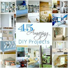 "45 Amazing DIY Projects Roundup... ""This site is really great and has recently shared a huge list of 45 amazing DIY projects brought together from different bloggers all over the web..."""