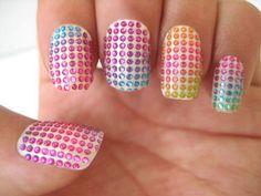 colorful nail crystal