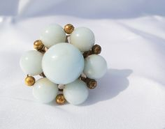 White Ring Vintage Adjustable by KatieScalmato on Etsy