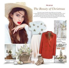 """The Beauty of Christmas"" by thewondersoffashion ❤ liked on Polyvore featuring Valentino, Chloé, Blazé Milano, RED Valentino, MM6 Maison Margiela and Suzanne Kalan"
