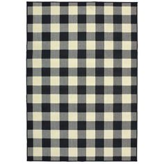 ThisWiest Plaid Black/Cream Indoor/Outdoor Area Rug is an elegant new introduction and a 100% polypropylene looped yarn made in Egypt. Polypropylene Rugs, Patio Rugs, Indoor Outdoor Area Rugs, Outdoor Living, Outdoor Areas, Indoor Outdoor Carpet, Outdoor Planters, Outdoor Decor, Buffalo Check