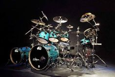 Blue DW drum set <3
