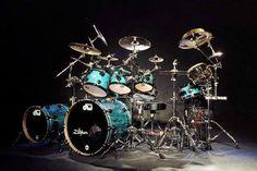 Blue DW drum set <3