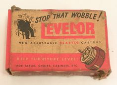 Levelor Adjustable Plastic Castors in Original Box New Old Stock x3 Sets Vintage by JohnGermaine on Etsy