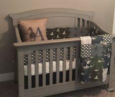 Custom Made  DUCK HUNTING  Camo Crib bedding  Duck by OCKBaby