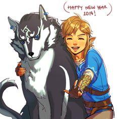 "TLoZ: BoTW;  Wolf Link & Link  ""Happy New Year 2018"""