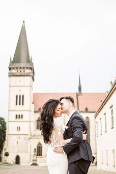 Kiss on face and cheek wedding pose in Bardejov Wedding Poses, Wedding Portraits, Wedding Dresses, Destination Wedding Photographer, Travel Around The World, Elegant Wedding, Romantic, Face, Kiss
