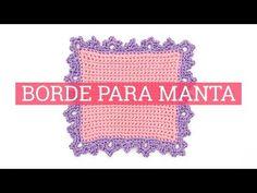 (27) Borde para manta de ganchillo ¡Súper bonito! - YouTube