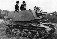 4,7 cm Pak(t) (Sfl) auf Fgst.Pz.Kpfw R35 731(f) during training, 1941