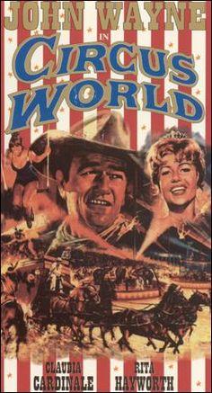 CIRCUS WORLD MOVIE POSTER John Wayne RARE HOT VINTAGE