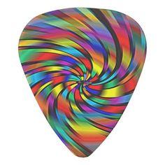 A Colorful Pinwheel Guitar Pick