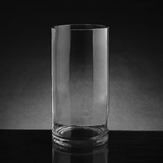 Tall clear cylinder vase 6x20