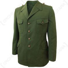 9cdead531e490 German Green Polizei Dress Jacket Army Surplus Jacket, Military Jacket,  Jacket Dress, German