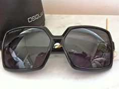D Squared Black Square Rimmed Sunglasses via The Queen Bee. Click on the image to see more!