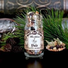 YULE - Winter Solstice - Artisan Botanical Ritual Incense - Blessed by Peridot and Citrine Quartz Crystals