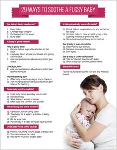 29 Ways to Soothe a Fussy Baby (with printable checklist!) baby care tips 29 Ways to Soothe a Fussy Baby (with printable checklist! Baby Needs, Baby Love, Baby Baby, Baby Momma, Baby On The Way, First Baby, New Parents, New Moms, Moms On Call