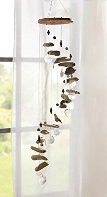 "Wind chime ""Driftwood and Capiz-Mobile"