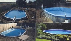 putting aboveground pool in the ground   The In Ground Above Ground Pool