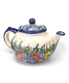 Take a look at this Wildflowers Large Teapot by Lidia's Polish Pottery on #zulily today!